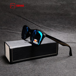eb8c7dbe48a TRUMPIONEER Hand Made Frame Men Women Polarized Sun Glasses Polarized  Mirrors Sunglasses Custom Myopia Minus Prescription Lenses