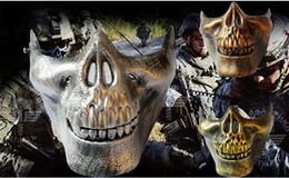 $enCountryForm.capitalKeyWord Australia - Halloween Masks Half Face Skeleton Warriors Protective Skull Mask of Terror Halloween Masquerade CS Games Masks