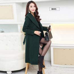 New Women clothing Woolen cloth coat winter fashion loose Big yards hooded  fur collar Thicken warm female coat Wool Overcoat 64d02d04b