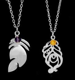 Pendant Jewelery Australia - New Couple Xayah Necklaces Rakan Jewelry League of Legend Pendant LOL Kalista Pendant Garen Hollow Leaf Necklace Jewelery