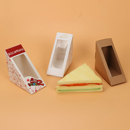 $enCountryForm.capitalKeyWord Australia - 20 Pcs Sandwich Box With Windows Paper Sandwich Packaging For Fast Food Shop Restauran Disposable Paper Packing Thicken Supplier free shippi
