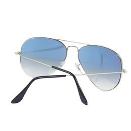 $enCountryForm.capitalKeyWord NZ - Wholesale-Metal Gradient Gray Blue red sunglasses pilot Style glass Sun Glasse oculos de sol FEMININO UV400 Men Women Sunglasses 58mm 62mm