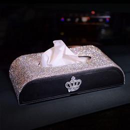 El tejido del coche de caja de Bling Bling diamantes de imitación estilo elegante chica de Navidad 2020 regalos del tejido duradero Marca Artesanía coche Accesorios Interior en venta