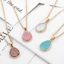 Druzy necklaces online shopping - Waterdrop Kendra Druzy Drusy Earrings Necklace Scott Gold Resin Druse Pendant Collar Women Jewelry