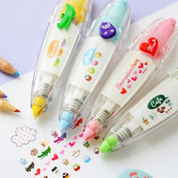 Correction Pens Australia - Heart Press Type Decorative Pen Push Lace Correction Tape Creative Stationery for Tag Sign Kids Gift Children School Stationery