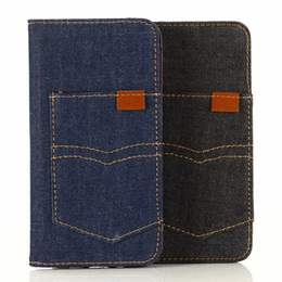 leather case iphone id Australia - Suck Jean Canvas Leather Wallet Case For Iphone 11 Pro Max 2019 New Fashion Flip Magnetic Closure Luxury Cover ID Card Slot Holder TPU Pouch