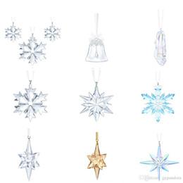 Christmas Gift Shoes Australia - FAHMFAHMI SWA Singular Snowflake Fantasy Simple Crystal Shoes Stars, Iridescent Gloss Christmas Gifts Women Fashion Ornaments