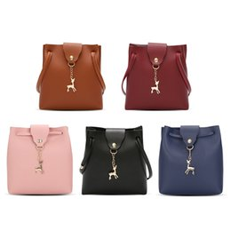 Genuine Leather Crossbody Handbags Wholesale Australia - shoulder bags PU leather bucket bag women famous brands designer handbags high quality crossbody bag purse TWIST