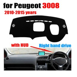 Discount 3008 accessories Car dashboard covers mat for 3008 High configuration 2010-2015 Right hand drive dashmat pad dash cover auto accessories