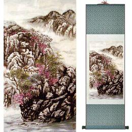 Silk Painting Fashion Australia - Landscape Art Painting Chinese Traditional Art Painting China Ink Painting Fashion Painting19061517021