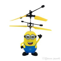 toy helicopter induction Australia - RC helicopter Drone kids toys Flying Ball Aircraft Led Flashing Light Up Toy Induction Electric sensor for Children