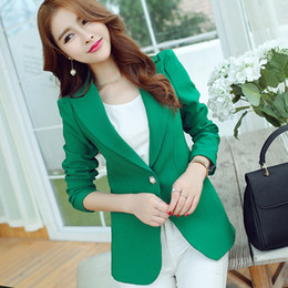 $enCountryForm.capitalKeyWord NZ - New for Office Lady Jacket Blazers Plus Size Solid Color Spring New Women Blazer Long Sleeve Candy Color Suit Loose Coat