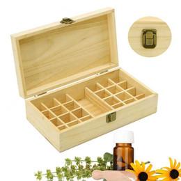 $enCountryForm.capitalKeyWord Australia - 25 Holes Essential Oils Wooden Box 5Ml  10Ml  15Ml Bottles Spa Yoga Club Storage Case Organizer Container