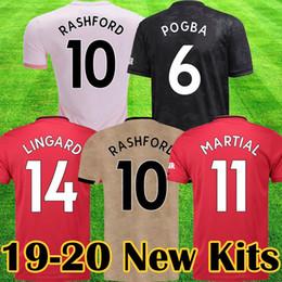 e55fc3a7c Manchester 2019 2020 LUKAKU MARTIAL POGBA Pink united Soccer Jersey  RASHFORD Kids jerseys Man kit Football Shirt 19 20 Utd Tops equipment