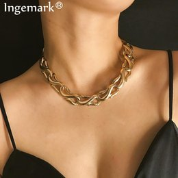 $enCountryForm.capitalKeyWord Australia - ashion Jewelry Ingemark Punk Miami Cuban Choker Necklace Collar Statement Hip Hop Heavy Metal Aluminum Thick Chain Necklace Female Chain...
