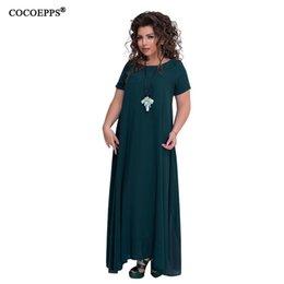 d83ee60d5f28 2019 New Women Elegant 5xl 6xl Plus Size Long Dress 4xl Big Large Size  Floor Length Maxi Dresses Ladies Sleeveless Solid Clothes Q190419