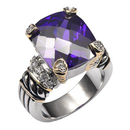 Crystal For Sales Australia - rings for men Hot Sale Purple Crystal Zircon 925 Sterling Silver High Quantity Ring For Men and Women Size 6 7 8