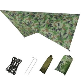 outdoor survival coats UK - Ultralight Tarp Outdoor Camping Survival Sun Shelter Shade Awning Silver Coating Pergola Waterproof Beach Tent