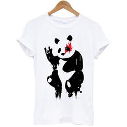 ce677774177542 Panda Rock Kuss Tier Pop Geschenk Hipster T-shirt T-shirt Männer 2018 Mode  Top T-shirt Vor Baumwolle T-shirt für Männer