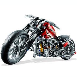 $enCountryForm.capitalKeyWord Australia - Hot 378pcs Technic Motorcycle Exploiture Model Harley Vehicle Building Bricks Block Set Toy Gift Compatible With Legoe J190722