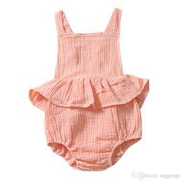 $enCountryForm.capitalKeyWord Australia - INS White Baby Girls Sleeveless Rompers Dresses Must-have Infant Girls Bodysuits One-piece Sleeveless Toddler Blackless Girls Jumpsuit