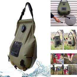 $enCountryForm.capitalKeyWord Australia - Portable 20L Army green Outdoor Bathing Bag Camping Solar Hot Water 0.55kg Water Storage Bag