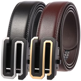 $enCountryForm.capitalKeyWord NZ - Fashion Men Belt Quality Genuine Leather Belts for Men's Designer Cowhide Waist Strap Male Metal Automatic Buckle Belt 110-130cm