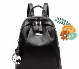 868bc875d5f5 Portable beautiful Shoulder Bag PU Headphone hole design Durable portable  Women Fashion backpack Big capacity Concise Ladies Designer