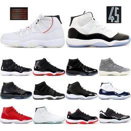 11 мужские 11s баскетбольная обувь новый Конкорд 45 платиновый оттенок пространство Джем тренажерный зал Красный выиграть, как 96 XI дизайнер кроссовки мужчины спортивная обувь на Распродаже