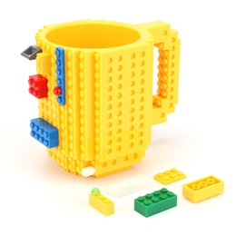 Discount block design - 350ml Creative Milk Mug Coffee Cup Creative Build-on Brick Mug Cups Drinking Water Holder Building Blocks Cup New Design
