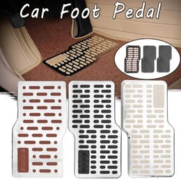 pedal auto Australia - Auto Car Foot Rest Pedal Plate Floor Carpet Mats Non-slip Stainless Heel Pad For Car Truck Suv Black Beige Brown