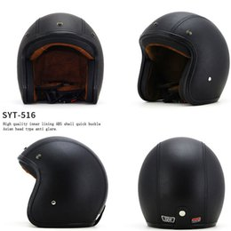 $enCountryForm.capitalKeyWord Australia - Motorcycle Helmet Chopper Retro Casco with Goggles Vintage Open Face Old School Casque Moto Cacapete DOT