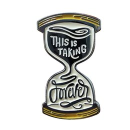 love couple art Canada - Taking forever pin retro hourglass love design great art gift idea for couple