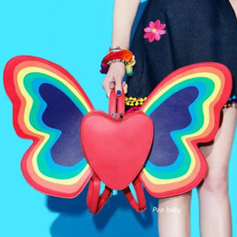 phone angels 2019 - New Happy Backpack Butterfly Wings Mini Backpack For Girls Angel Wings Daypack Casual Women's School Bag cheap phon