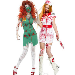 Wholesale nurse cosplay for sale - Group buy Europe America Women s Halloween dresses cosplay vampire Female nurse clothes white Female Devil suit dresses woman party night