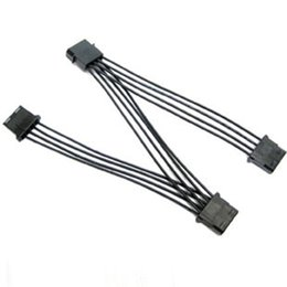 Chinese  D Port Extension Cord Wires Z Type 18AWG Power Cord Black Environmental Friendly Connector Big 4 Pins 13CM+13CM+13CM manufacturers