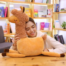 kawaii alpaca toy UK - kawaii camel doll cartoon alpaca plush toy sheep toys cute girl sleeping bed pillow 31inch 80cm