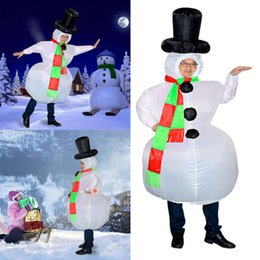 Discount funny inflatable costumes - Funny Adult Inflatable Frosty Snowman Xmas Costume Christmas Fancy Dress Outfit mascot