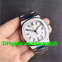 Men White Stainless Watch NZ - BP Luxury Watch 5711 1A-011 Watch Miyota 9015 Automatic Movement Stainless Steel Case White textured Dial Stainless Steel Bracelet Men Watch