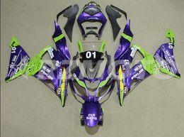 Zx 14 Fairing Purple Australia - New Abs Fairings Kit Fit for kawasaki Ninja ZX6R 636 599 2013 2014 2015 2016 2017 6R 13 14 15 16 17 ZX-6R Bodywork set Purple green