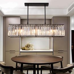 $enCountryForm.capitalKeyWord Australia - Modern Crystal Chandelier Pendant Light Creative Rectangle Chandelier Lamp Fixture Vintage Style Lustres for Living Room Kitchen