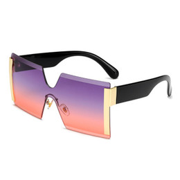 d262c5e862 Gafas de sol y gafas de sol sin montura de pieza conectada de 2019 (compra  10 y envía una gafa)