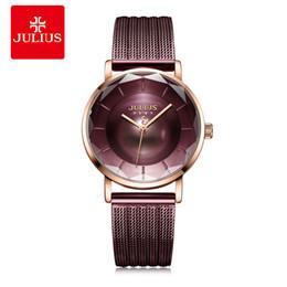 $enCountryForm.capitalKeyWord UK - Julius Lady Retro Stainless Steel Mesh Belt Watch Woman Brand Ultra Thin Quartz Bracelet Wristwatches Clock Montre Femme Gifts