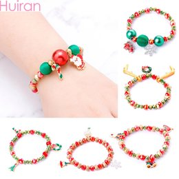 $enCountryForm.capitalKeyWord Australia - Huiran 2019 Christmas Santa Claus Bracelet Merry Christmas Decorations For Home Neol Xmas Gift Kids Earring Happy New Year 2020