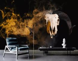$enCountryForm.capitalKeyWord Australia - Custom wallpaper European painted New Chinese abstract oil painting smoke antler solid animal sofa TV mural background 3D wallpaper