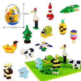 Animals Building Blocks Kids Mini Surprise Twist Eggs Toys 12 Styles Bricks Boys Girls Birthday Party Gifts