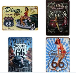 $enCountryForm.capitalKeyWord Australia - HOT USA Vintage Metal Tin Signs Route 66 Car Number License Plate Plaque Poster Bar Club Wall Garage Home Decoration