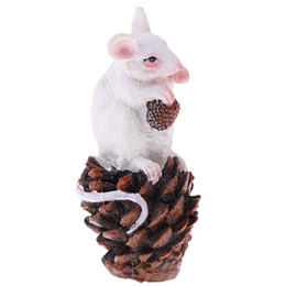resin mice UK - Finest Miniature Resin Mouse Sculpture Animal Model for Yard Garden Lawn Home Office Desk Decoration Ornament