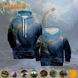 parent child clothing NZ - 3D Hoodies Scary dinosaur Funny prevalent WHOSONG Boys clothes Man sweat shirt Parent-child clothing