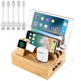 dock station smart watch Australia - Bamboo Charging Station for Multiple Devices,Desktop Docking Station Organizer for Smartphone,Smart Watch,Tablet